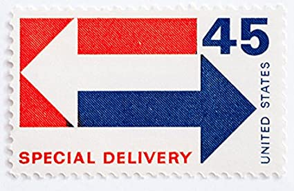 Amazon US 1969 Special Delivery 45 Cent Stamp E22