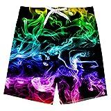 Uideazone Boys Teens Swim Trunks Quick Dry Waterproof Surfing Beach Shorts Drawstring Elastic Waist with Mesh Lining 5-16T