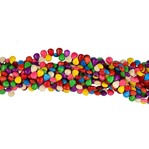 15' Drop Flat - Multicolor Howlite Synthetic Turquoise Flat Teardrop Stone Beads 15'' 10x8mm