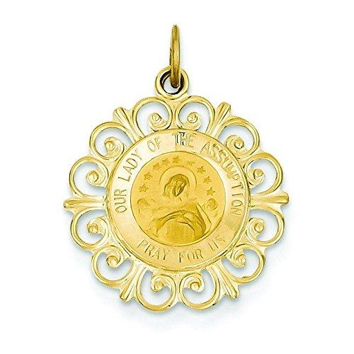 Notre-dame de hypothèse 14 Carats Pendentif Médaille JewelryWeb