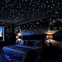 Airbin Glow In The Dark Stars Wall Stickers, 730 pcs Dots...