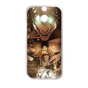 HTC One M8 Cell Phone Case White Attack On Titan EREN Custom ASI8724538