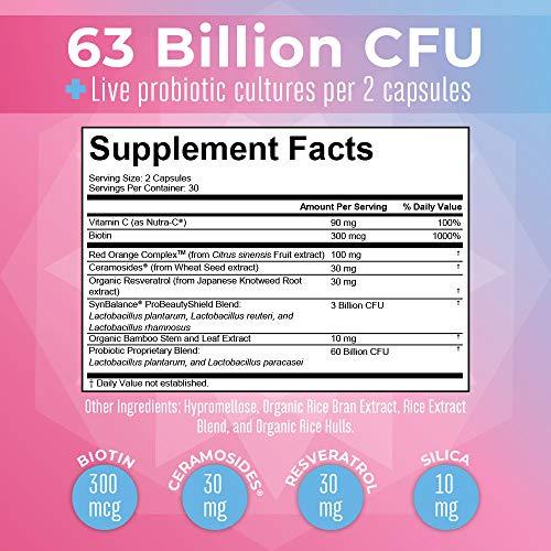 Probiotics & Collagen for Women by MaryRuth's, Vegan Capsules for Immune Support, Plant Based Biotin for Hair, Skin…
