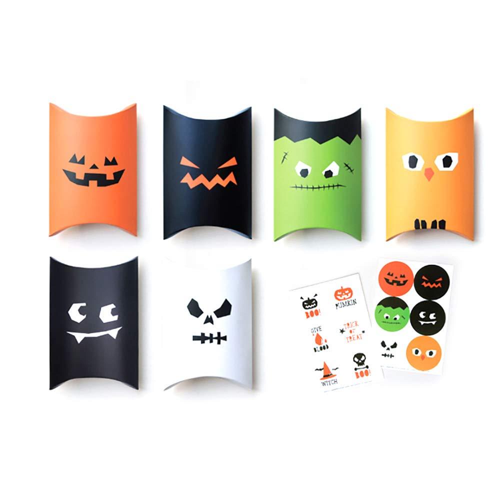 Rocita 5 PCS Candy Box Halloween Folding Funny Gift Packaging Carton Pillow Case(Random Color)