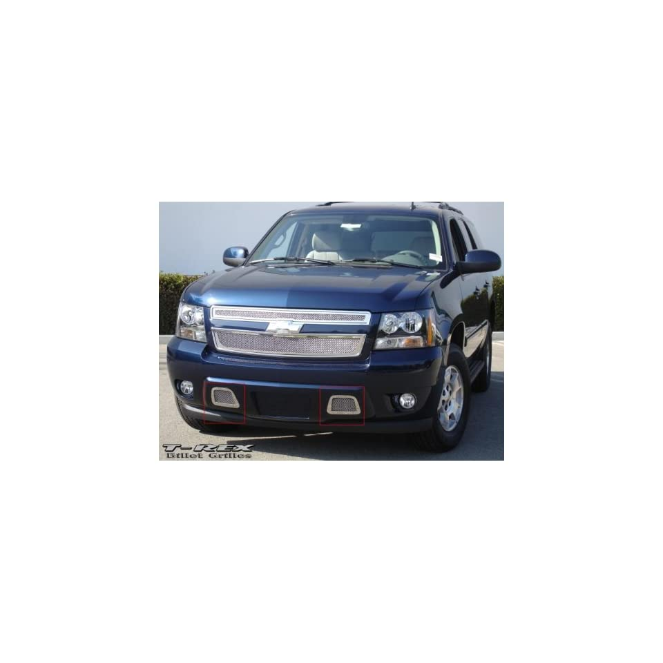 T Rex Grilles 2007   2007  Chevrolet Tahoe, Suburban, Avalanche  Upper Class Mesh Bumper   Polished Stainless Steel   2 Piece kit covers tow hook openings