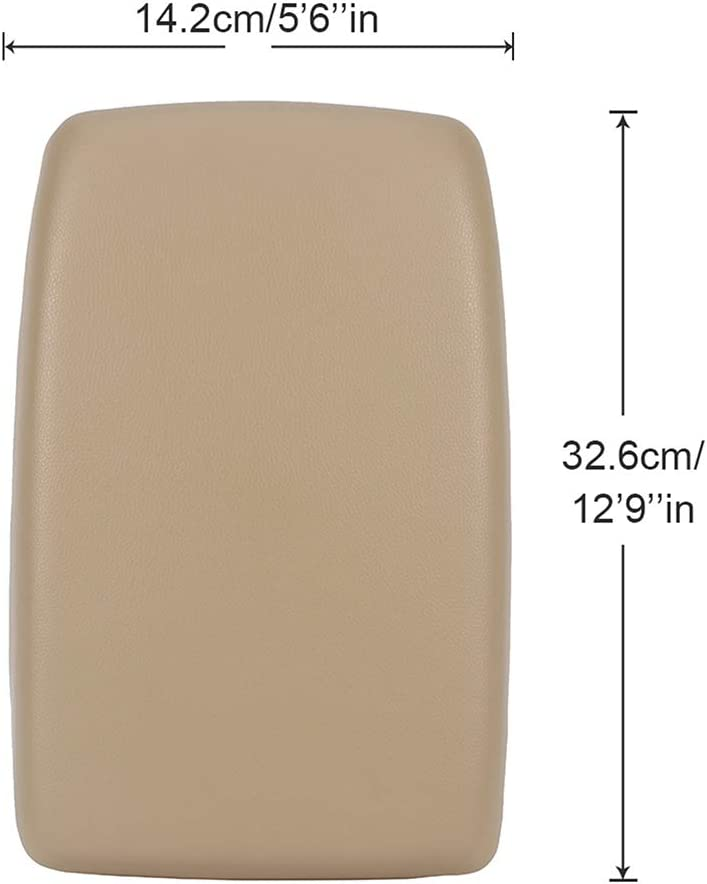 Beige OCPTY Auto Armrest Center Console Lid Skin Cover Base for 2008-2014 Toyota Highlander