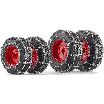 Juego de ruedas con cadena de nieve para Fendt 828 (2014) Tractor: Amazon.es: Juguetes y juegos