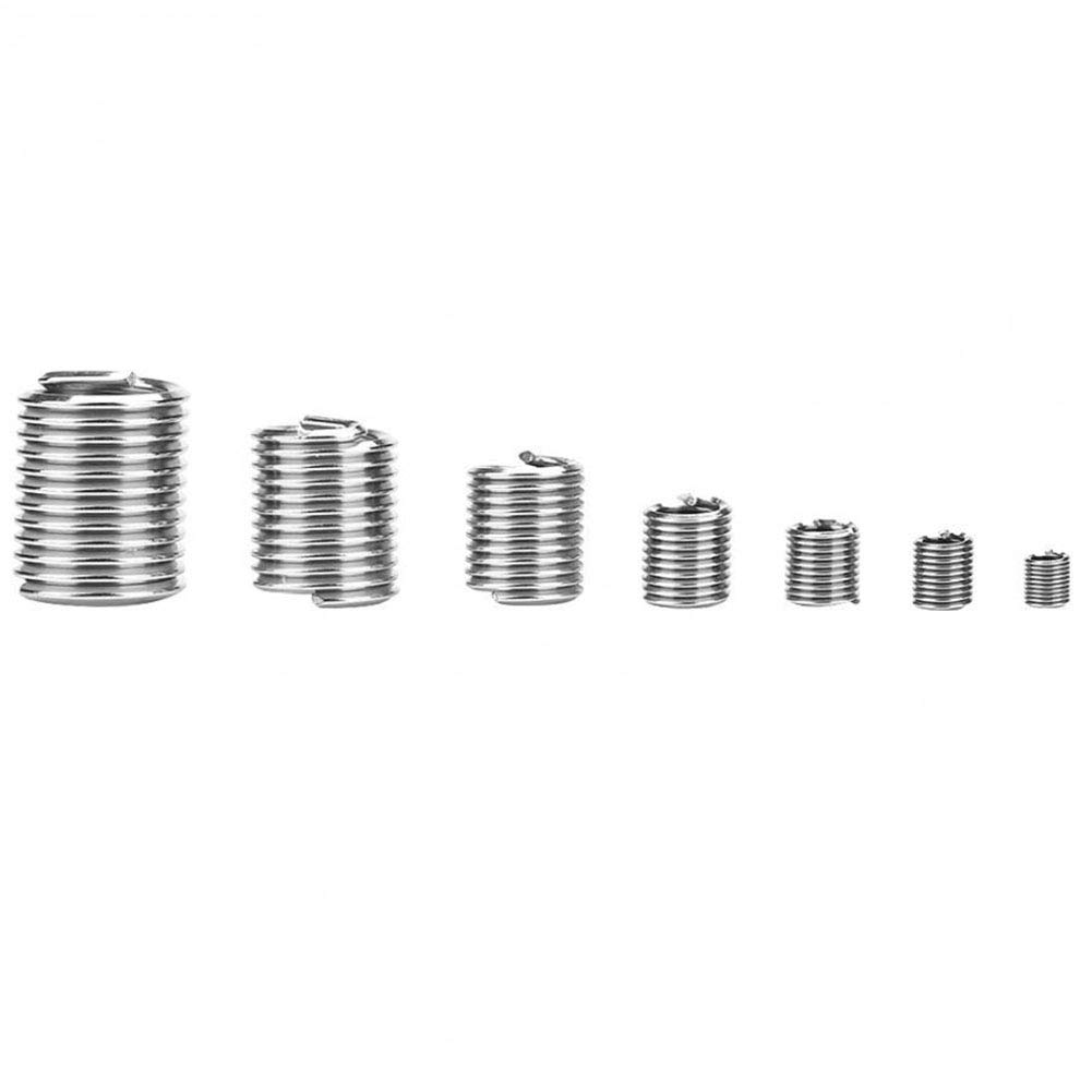 Ochoos 60 Pcs//Set Repair Kit Multifunctional Thread for Hardware Car Sleeve Wire Insert Accessories Anti-Loose Home Stainless Steel