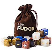 Wiz Dice 20 Fudge Dice GM Starter Pack Terrestrial with Chocolate Brown Carry Bag(GDIC-2301)