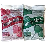 Bundle of Wilton Candy Melts, Red and Green, 12-ounce Each, 1911-1357 (Pack o...