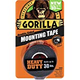 "Gorilla 6055001 Heavy Duty Mounting Tape, Double-Sided, 1"" x 60"", Black"