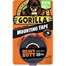 "Gorilla Heavy Duty Mounting Tape, Double-Sided, 1"" x 60"", Black"