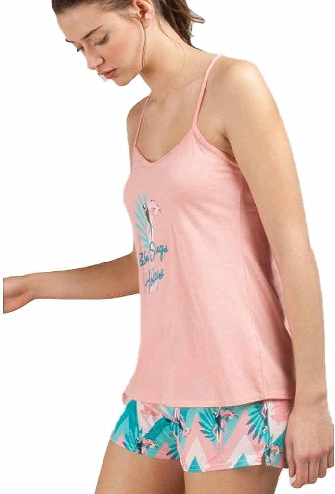 GISELA - Pijama Chica Pantera Rosa Mujer Color: Rosa Talla ...