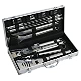 F2C Stainless-Steel 19-Piece BBQ Barbecue Grill Tools Set with Aluminum Carrying Storage Case