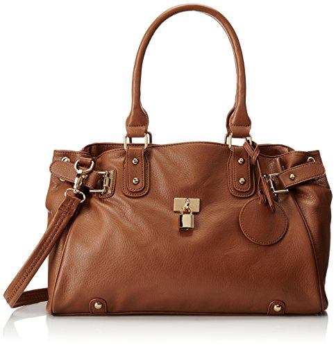 MG Collection Lucca Designer Inspired Glamour Shopper Tote Handbag, Brown, One Size