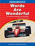 img - for Words Are Wonderful: Teachers Edition Book 3 book / textbook / text book