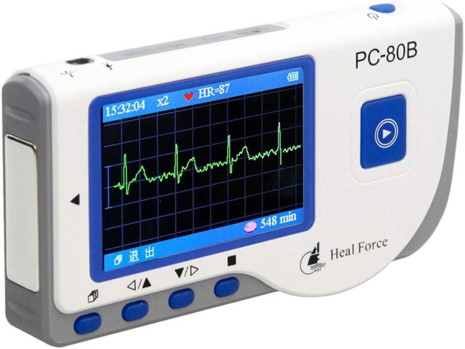 L&F Electrocardiógrafo PC-80B Inicio del corazón Monitoreo de Detección de ECG Grabadora de Control dinámico