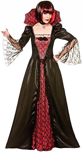 Gothic Vampiress Women's Costume Evil Halloween Fancy Dress -