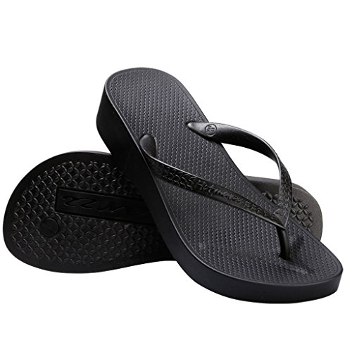 Hotmarzz Women's Platform Flip Flop Wedge Sandal Summer Beach Slippers Size 8 B(M) US / 39 EU, ()