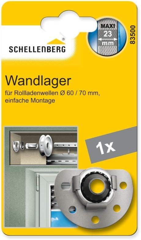 Schellenberg 83601 Mini Appui mural avec roulement /à billes pour arbres octogonaux /Ø 40 mm