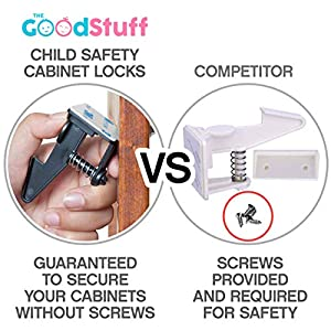 Cabinet Locks Child Safety Latches – Quick and Easy...