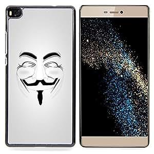 Stuss Case / Funda Carcasa protectora - Anonymous máscara de Guy Fawkes Libertad - Huawei Ascend P8 (Not for P8 Lite)