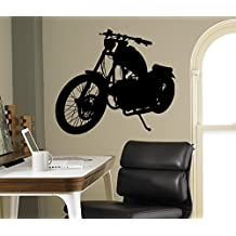 Motorcycle Wall Decal Motorbike Vinyl Sticker Home Bike Racing Interior Removable Decor Garage Wall Design 14(mbk)