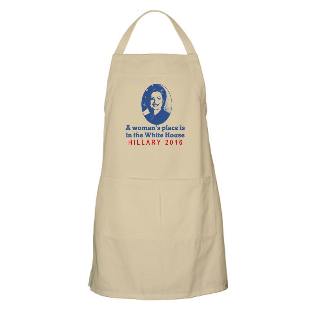 White house apron - Amazon Com Cafepress Hillary White House Kitchen Apron With Pockets Grilling Apron Baking Apron Home Kitchen