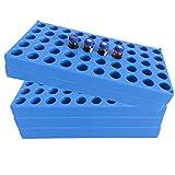 (5 Packs) Vial Rack, Single Blue Holds 50 Standard 12 mm 2 mL Vials, Stackable Tube Rack Centrifuge Tubes Rack
