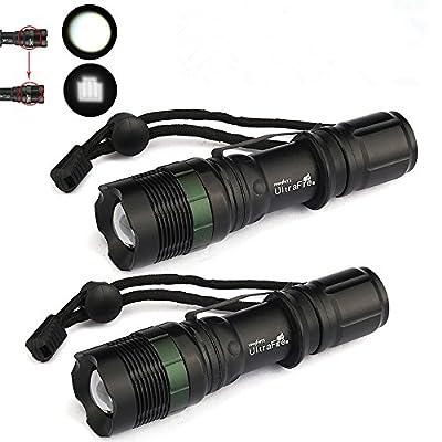 New 2X 8000 Lumen Zoomable CREE XM-L T6 LED Flashlight Torch Tactical Light Aluminum