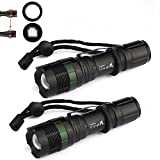 New 2X 8000 Lumen Zoomable CREE XM-L T6 LED Flashlight Torch Tactical Light Aluminum
