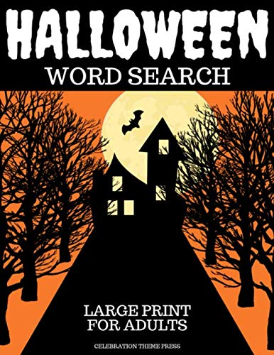 Halloween Word Search: Large Print for Adults
