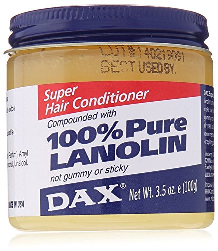 DAX super hair conditioner 100% PURE LANOLIN Not gummy or sticky 3.5OZ (Super Lanolin Dax)