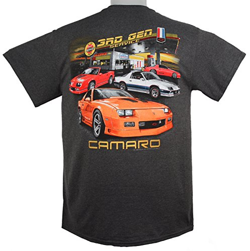 Hot Rod Apparel Company 1982 to 1992 Chevy Camaro 3RD Generation T-Shirt 100% Cotton - Gray by HRAC