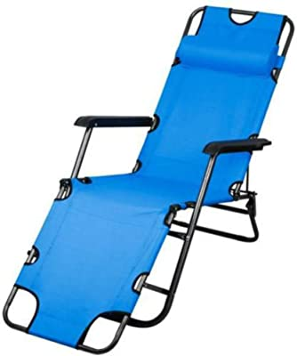Portable Folding Garden Lounge Chair Beach Patio Pool Yard Recliner Outdoor Blue
