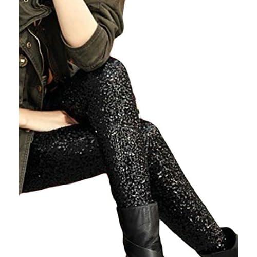 6cb96315c66 UUYUK-Women Sequins Leggings Pants Dance Trousers Clubwear hot sale ...