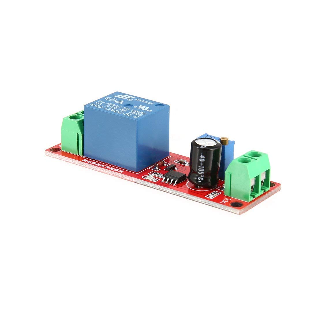 Baynne DC 12V NE555 Monostable Delay Relay Circuit Conduction Module Trigger Switch Timer Adjustable Time Shield Electronics Arduino by Baynne (Image #8)