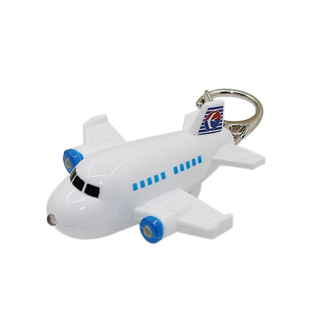 Acamifashion Lovely Airplane LED Sound Keyring Car Key Chain Handbag Hanging Decor Gift