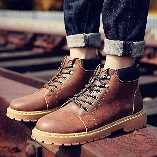 Shukun Herren Stiefel Tooling schuhe Cotton schuhe Men's Cotton Stiefel Outdoor schuhe Martin Stiefel Autumn and Winter Models High to Help Men's schuhe