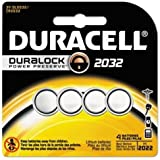 2032 Duracell Duralock CR2032 Lithium Batteries 4 Pack