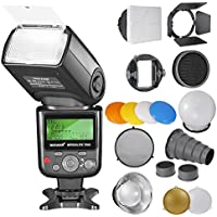 Neewer PRO i-TTL Flash Deluxe Kit for NIKON: 750II iTTL Flash+Speedlite Flash Accessories Kit with Barndoor,Snoot,Honeycomb,Standard Reflector,Diffuser Ball,Color Gel,Softbox,Mount Adpater