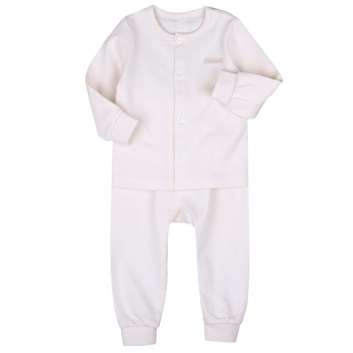 organicboom Natural 100/% Organic Cotton Pajamas Long Sleeve Baby Boy and Girl Fall,Winter,Spring