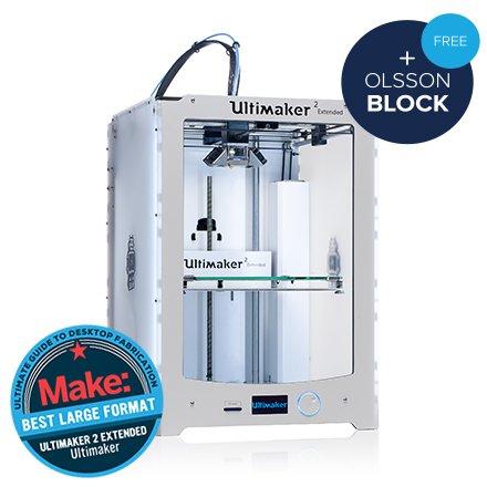Impresora 3D Ultimaker Extended-2-Impresora 3D color, 1 Cabezal de impresión, plástico ABS/nailon, USB