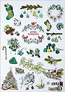 Christmas Decoration Waterproof Temporary Tattoo Stickers A5