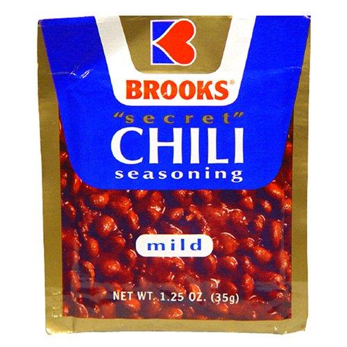 Brooks Secret Chili Seasoning, Mild, 1 Ounce (Pack of 24)
