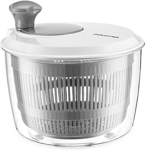 Gourmia GSA9135 Mini Salad Spinner – Easy Lettuce and Herb Rinsing, Drying and Prep – Mix and Fluff Leafy Greens – BPA Free and Top Rack Dishwasher - Salad Dishwasher Spinner Safe