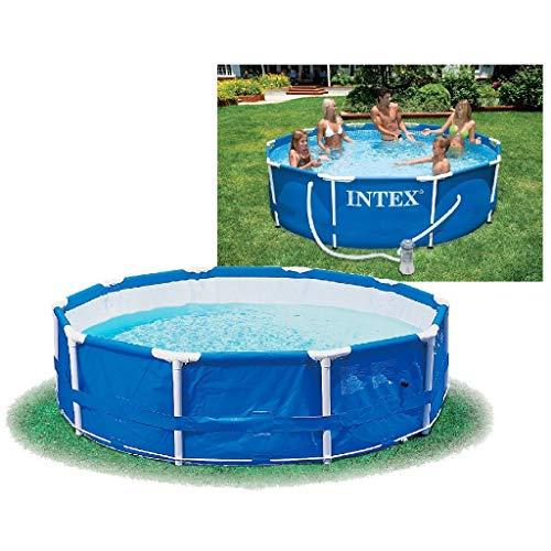 🥇 Intex 56996GS – La piscina de tierra piscina acero ajustado rondo