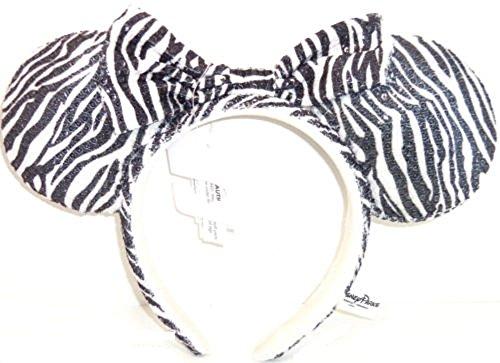 Disney Minnie Mouse Sequin Ears Zebra Print Headband (Zebra Sequin)