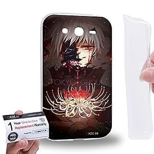 Case88 [Samsung Galaxy Grand Duos i9082 i9080] Gel TPU Carcasa/Funda & Tarjeta de garantía - Tokyo Ghoul ¡ÔA Tokyo Ghoul: RE Tokyo Ghoul Jack Kaneki Ken CCG Haise Sasaki 1808
