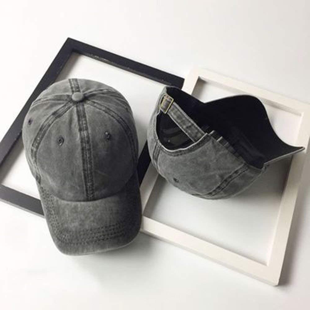 Unisex Vintage Washed Distressed Baseball-Cap Twill Adjustable Dad-Hat (Z-2pc (Black+Burgundy)) by Mommy Jennie (Image #7)